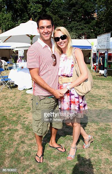 Camilla Dallerup and Kevin Sacre attend Macmillan Dog Day in aid of Macmillan Cancer Support in Royal Chelsea Hospital on June 30 2009 in London...