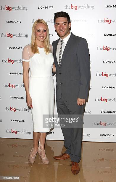 Camilla Dallerup and Kevin Sacre attend Special screening of 'The Big Wedding' at May Fair Hotel on May 23 2013 in London England