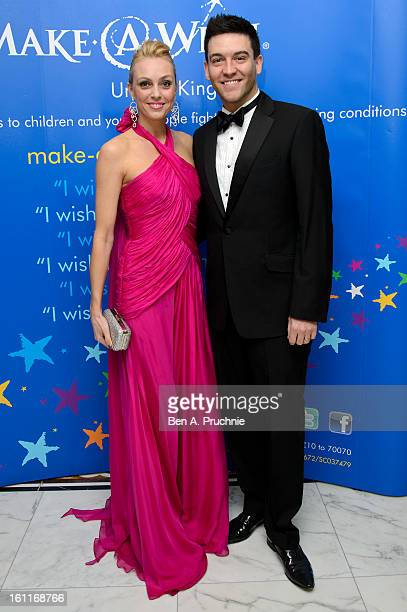 Camilla Dallerup and Kevin Sacre attend the MakeAWish Foundation's UK Valentine's Ball 2013 held at The Dorchester on February 9 2013 in London...