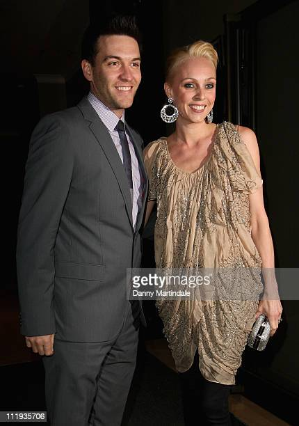 Camilla Dallerup and Kevin Sacre attend the post wedding party of Angellica Bell and Michael Underwood at May Fair Hotel on April 9 2011 in London...