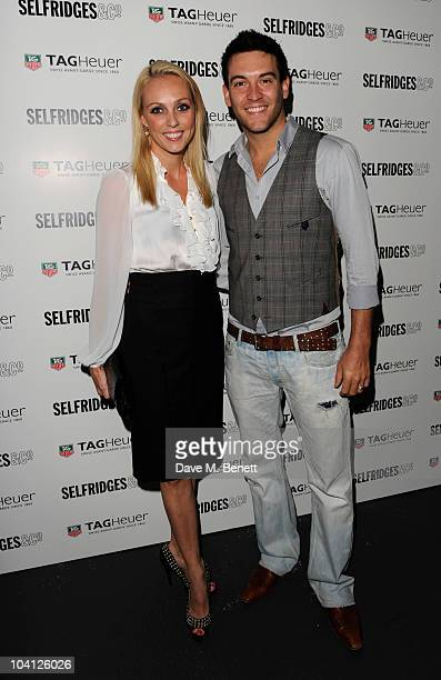 Camilla Dallerup and Kevin Sacre attend the TAG Heuer 150th Anniversary Party at Selfridges on September 15 2010 in London England