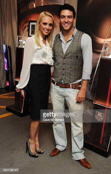 Camilla Dallerup and Kevin Sacre attend the TAG Heuer 150th Anniversary Party at Selfridges on September 15, 2010 in London, England.