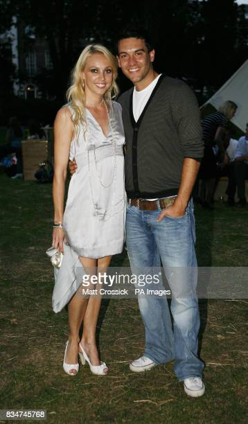 Camilla Dallerup and Kevin Sacre attending the African Oasis party sponsored by Amarula Cream in Bedford Square London