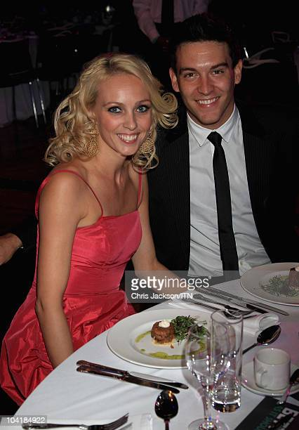 Camilla Dallerup and Kevin Sacre attends a champagne reception and dinner ahead of Betfair's 'Newsroom's Got Talent' which raises funds for three...