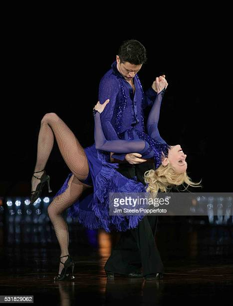Camilla Dallerup and Tom Chambers performing on stage during the Strictly Come Dancing Live event at Wembley Arena in London on the 3rd February 2009