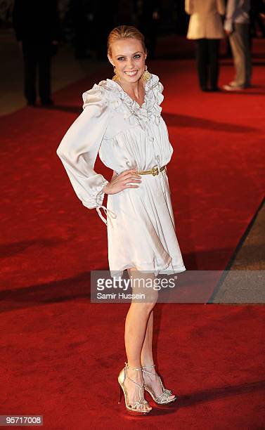 Camilla Dallerup arrive at the World Premiere of 'Nine' at Odeon Leicester Square on December 3, 2009 in London, England.