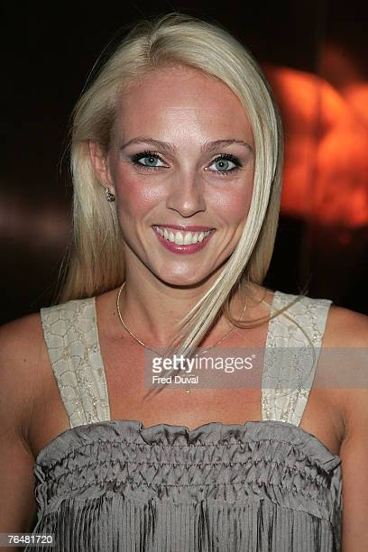 Camilla Dallerup arrives at Hell's Kitchen at the 3 Mills Studio on September 2 2007 in London England