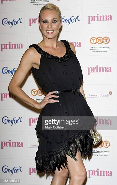 Camilla Dallerup Arrives At The 2008 Comfort Prima High Street Fashion Awards On September 11 2008 In London