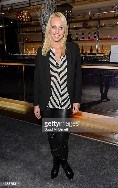 "Camilla Dallerup arrives at the ""White Christmas"" press night after party at The Bloomsbury Ballroom on November 12, 2014 in London, England."