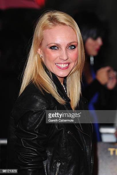 Camilla Dallerup arrives at the World Film Premiere of 'Clash of the Titans' at the Empire Leicester Square on March 29 2010 in London England