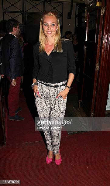 Camilla Dallerup at the press night performance of 'WAG The Musical' at Charing Cross Theatre on July 24, 2013 in London, England.