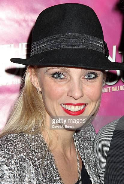 Camilla Dallerup attends an after party celebrating the press night performance of 'Burn The Floor' at the Trafalgar Hotel on March 11, 2013 in...