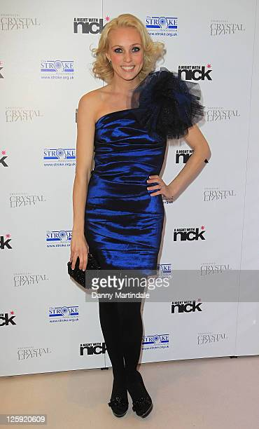 Camilla Dallerup attends Nick Ede's Christmas Party in aid of The Stroke Association at Swarovski Crystallized on November 30 2010 in London England