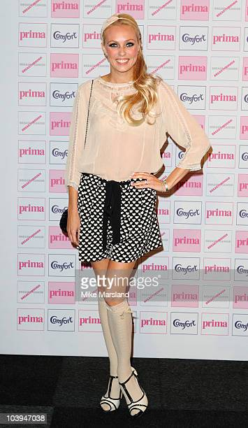 Camilla Dallerup attends the Comfort Prima High Street Fashion Awards at Battersea Evolution on September 9 2010 in London England
