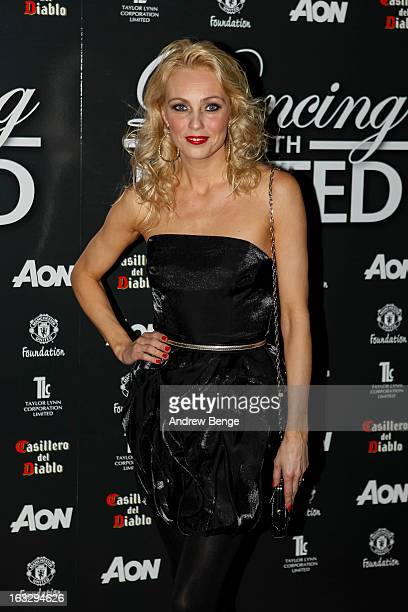 Camilla Dallerup attends the Manchester United Foundation's Dancing With United charity fundraiser at Lancashire County Cricket Club on March 7 2013...