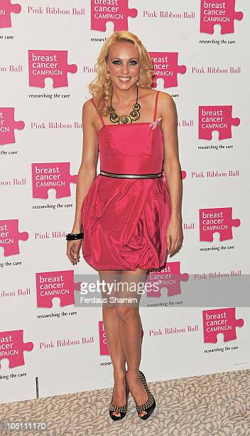 Camilla Dallerup attends the Pink Ribbon Ball at Dorchester Hotel on October 9 2010 in London England