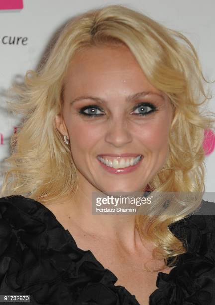 Camilla Dallerup attends The Pink Ribbon Ball at Dorchester Hotel on October 10, 2009 in London, England.