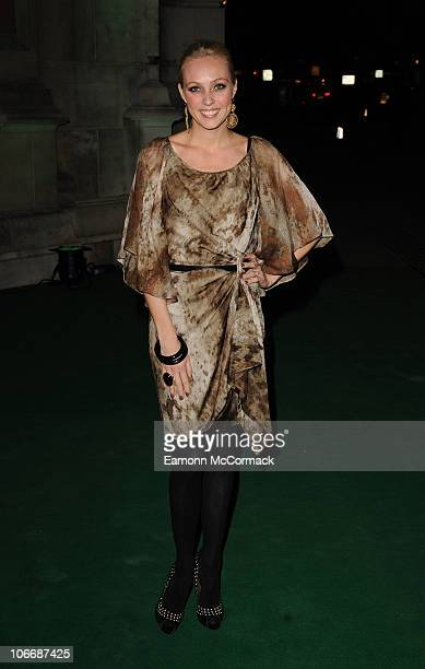Camilla Dallerup attends the Spectacle Wearer Of The Year ceremony which celebrates the year's best glasseswearing individuals at Victoria Albert...