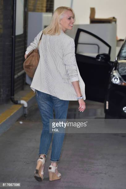 Camilla Dallerup seen at the ITV Studios on July 18, 2017 in London, England.