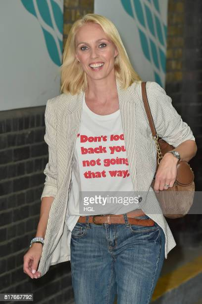 Camilla Dallerup seen at the ITV Studios on July 18 2017 in London England