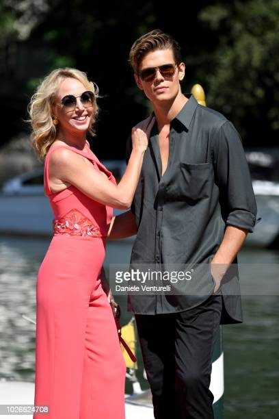 Camilla de Bourbon and Alessandro Egger are seen during the 75th Venice Film Festival on September 4 2018 in Venice Italy