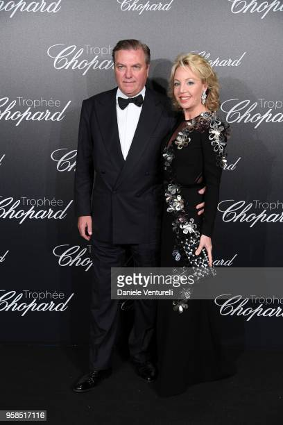 Camilla di Borbone and Carlo di Borbone attend the Chopard Trophy during the 71st annual Cannes Film Festival at Martinez Hotel on May 14 2018 in...