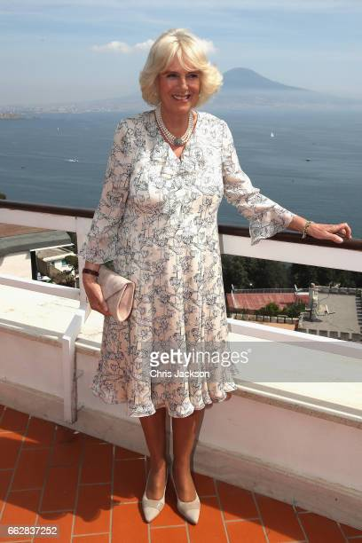 Camilla Duchess of Camilla of Cornwall visits La Gloriette a community centre based on a property which once belonged to one of the biggest bosses of...