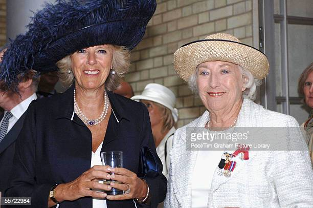Camilla Duchess of Cornwall and Dame Vera Lynn attend a reception in the Ministry of Defence to mark the 65th anniversary of the Battle of Britain...