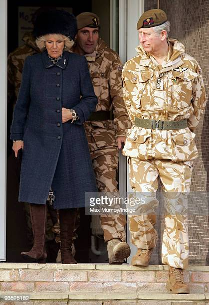 HRH Camilla Duchess of Cornwall and HRH Prince Charles The Prince of Wales Colonel of the Welsh Guards attend the campaign medal presentation...
