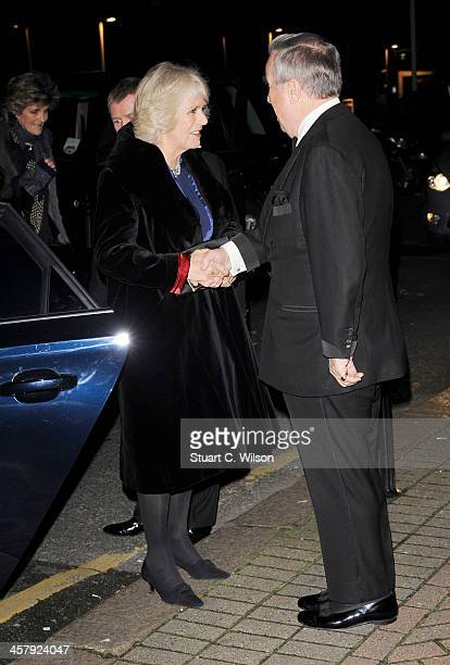 Camilla Duchess of Cornwall and Lord Vestey attend The London International Horse show at Olympia Exhibition Centre on December 19 2013 in London...
