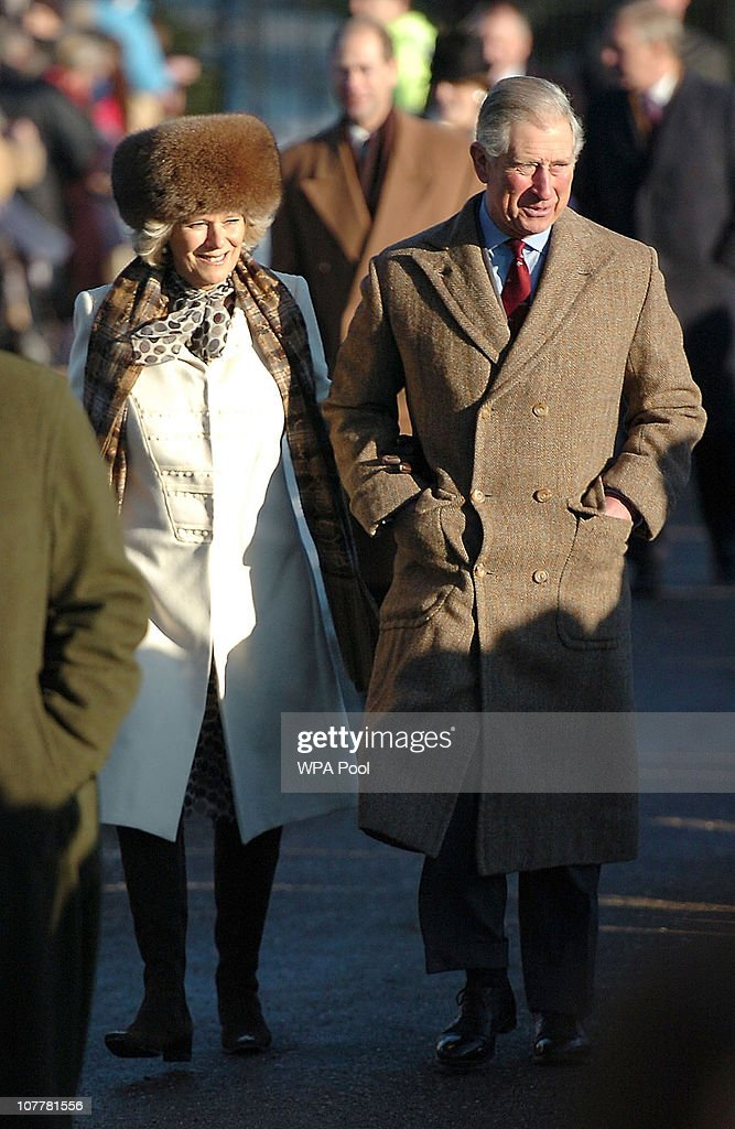 The Royal Family Attend Their Traditional Christmas Day Church Service : News Photo