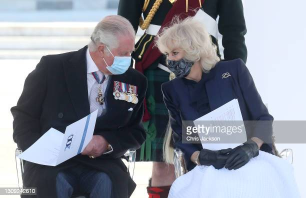 Camilla, Duchess of Cornwall and Prince Charles, Prince of Wales attend the Greek Independence day Military Parade in Syntagma Square on March 25,...