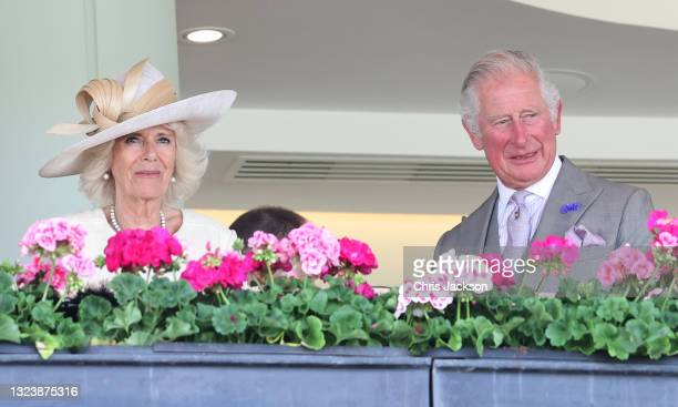 Camilla, Duchess of Cornwall and Prince Charles, Prince of Wales attend Royal Ascot 2021 at Ascot Racecourse on June 16, 2021 in Ascot, England.