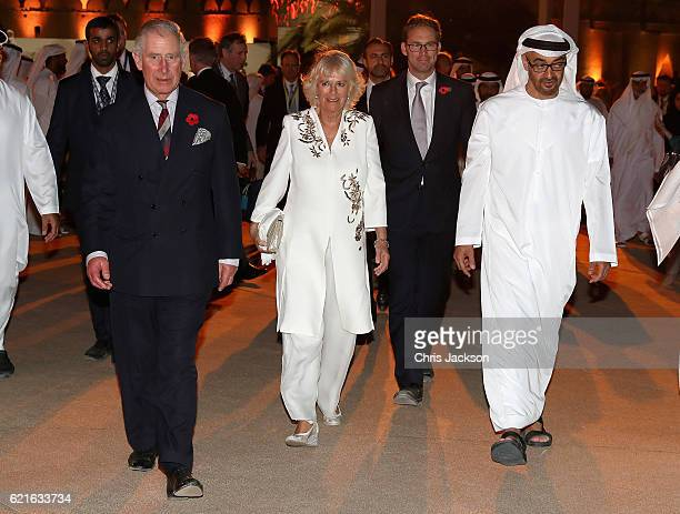 Camilla Duchess of Cornwall and Prince Charles Prince of Wales attend a UK/UAE Year of Creative Collaboration Launch at Al Jahili Fort with Sheikh...