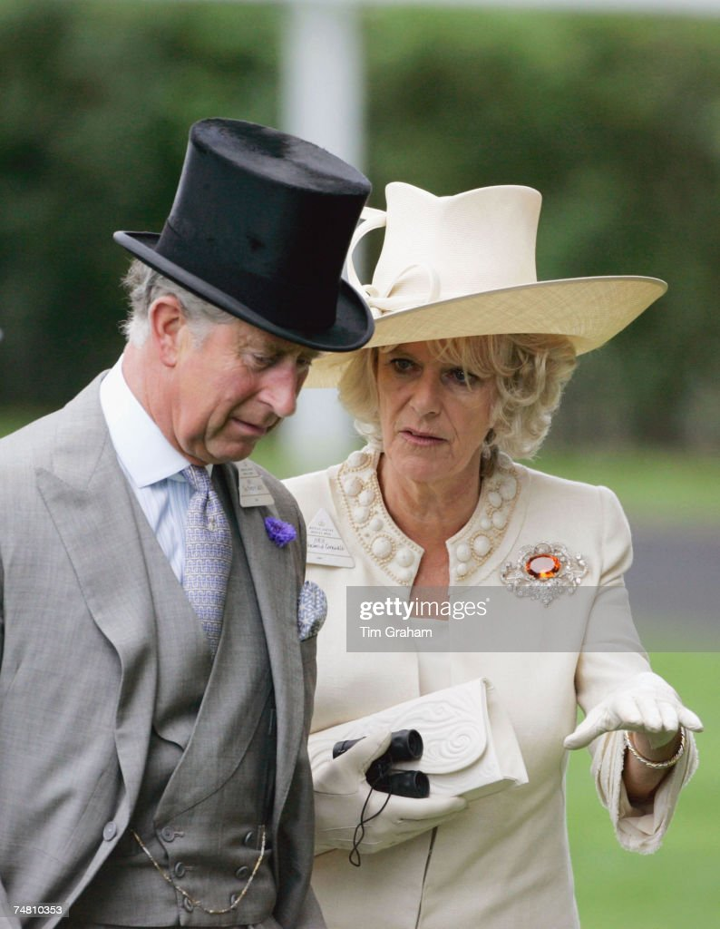 Camilla, Duchess of Cornwall and Prince Charles, Prince of Wales attend the second day of Royal Ascot Races on June 20, 2007 in Ascot, England.