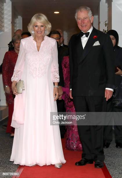 Camilla Duchess of Cornwall and Prince Charles Prince of Wales attend a Gala Dinner to celebrate 60 years of UK Malaysia diplomatic ties at the...
