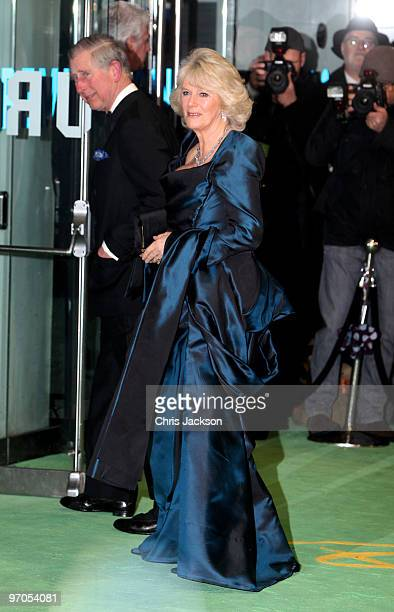 Camilla Duchess of Cornwall and Prince Charles Prince of Wales attend the Royal World Premiere of 'Alice in Wonderland' at the Odeon Leicester Square...