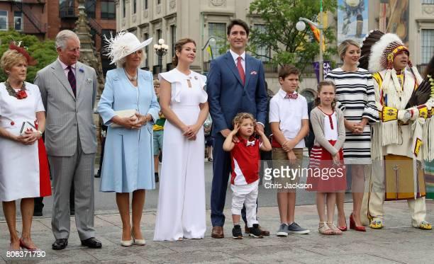 Camilla, Duchess of Cornwall and Prince Charles, Prince of Wales, Camilla, Duchess of Cornwall, Sophie Grégoire Trudeau, Justin Trudeau, Hadrien...