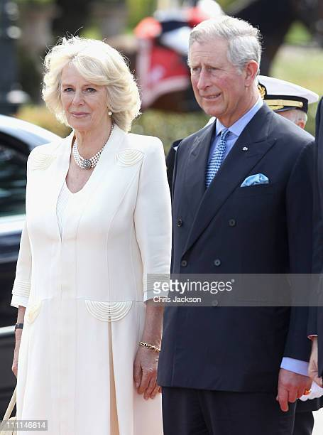 Camilla Duchess of Cornwall and Prince Charles Prince of Wales visit the Palacio Del Pardo on day one of a three day visit to Spain on March 30 2011...