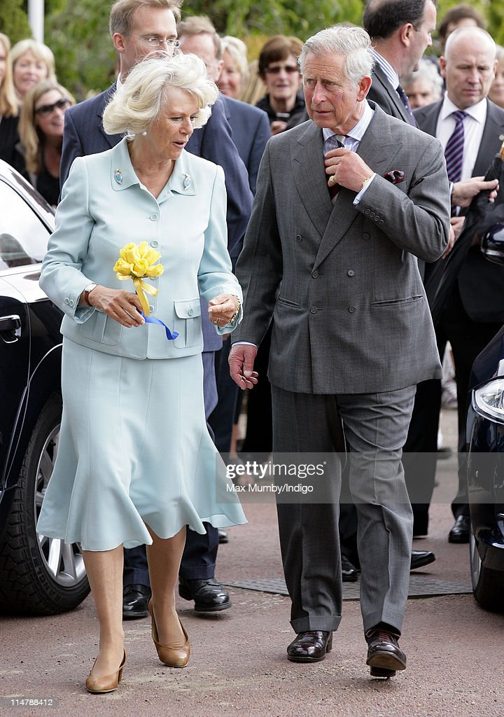 Camilla, Duchess of Cornwall and Prince Charles, Prince of Wales visit Denbies Wine Estate during a day of engagements in Surrey on May 26, 2011 in Dorking, England.