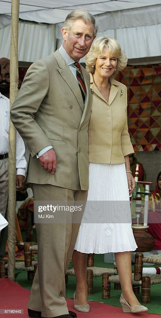 Camilla Duchess of Cornwall and Prince Charles Prince of Wales visit a Punjab village on the eighth day of their 12 day official tour visiting Egypt..