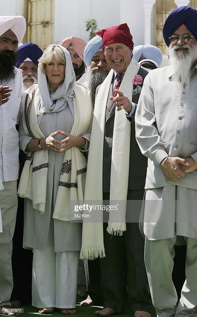 Camilla Duchess of Cornwall and Prince Charles Prince of Wales visit the Anadpur Sahib gurudwara in India`s northern Punjab state on on the ninth day.