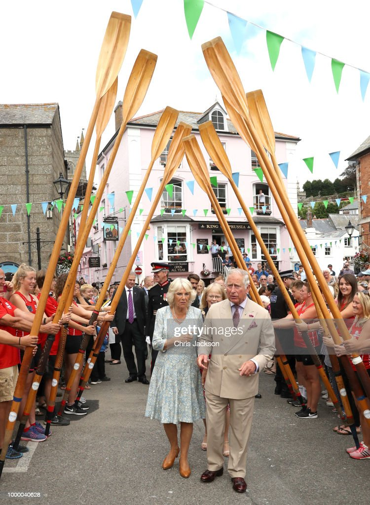 The Prince Of Wales & Duchess Of Cornwall Visit Cornwall & Devon - Day 1