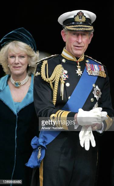 Camilla, Duchess of Cornwall and Prince Charles,Prince of Wales leave after a commemoration service in St. Paul's Cathedral to mark the 200th...