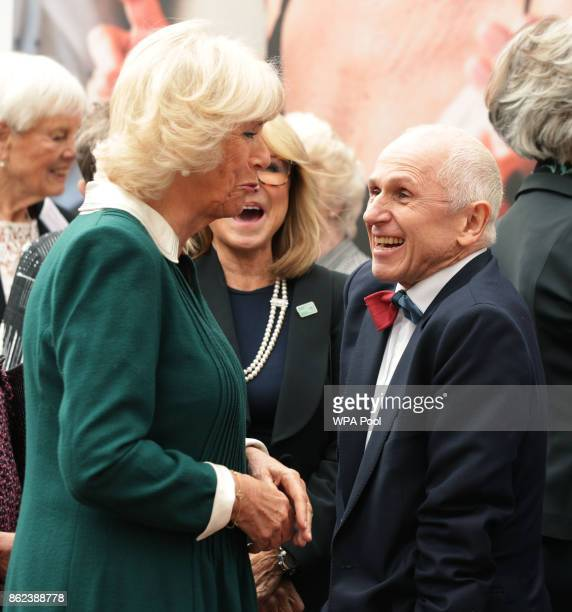 Camilla Duchess of Cornwall and Wayne Sleep are seen during a reception to celebrate the launch of the 'Our Amazing People' campaign at Clarence...