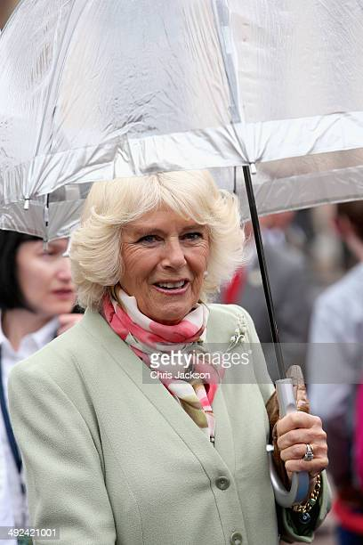 Camilla Duchess of Cornwall arrives at the Legislative Chamber on May 20 2014 in Charlottetown Canada The Prince of Wales and Duchess of Cornwall are...