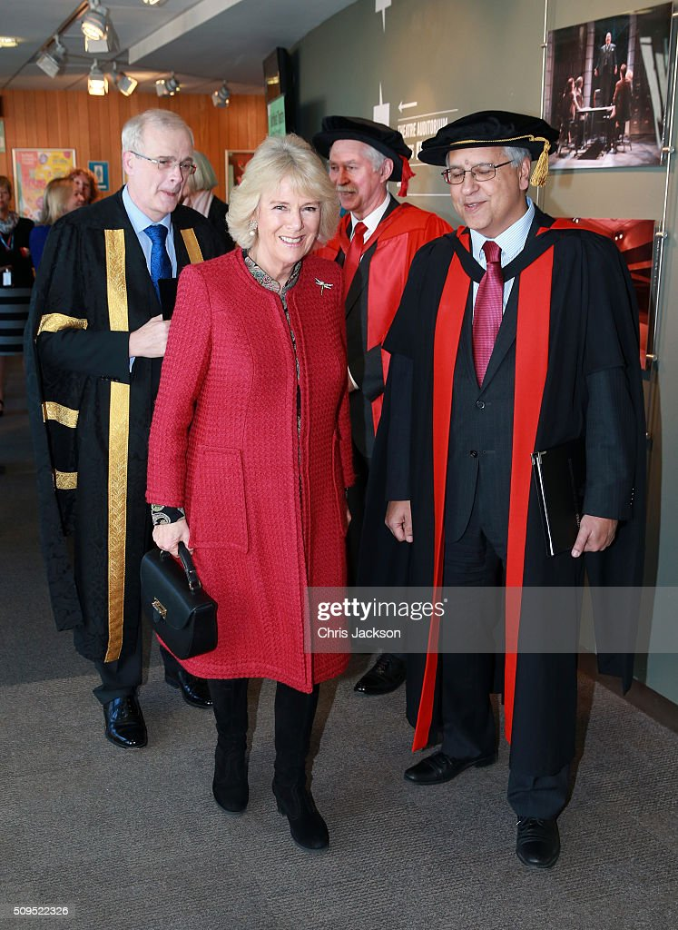 Camilla, Duchess Of Cornwall arrives at the University Of Southampton where she is to be awarded an Honourary Doctorate on February 11, 2016 in Southampton, England.