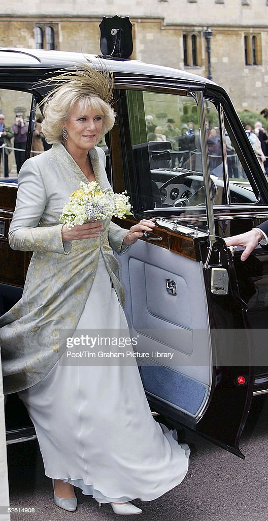 Camilla Arrives for Blessing At Windsor Castle : News Photo