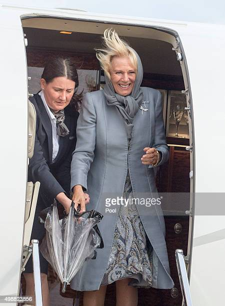 Camilla, Duchess of Cornwall arrives for the Commonwealth Heads of State Summit on November 26, 2015 in Valletta, Malta.