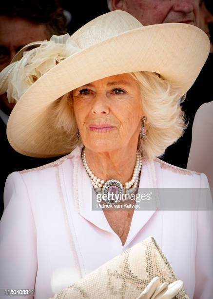Camilla Duchess of Cornwall at St George's Chapel on June 17 2019 in Windsor England